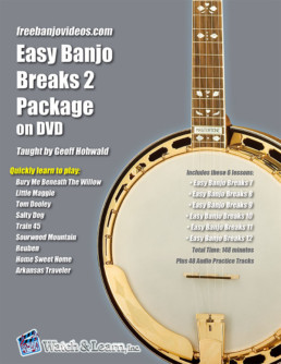 easy banjo breaks beginner book